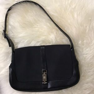 Gucci Black leather & Canvas purse